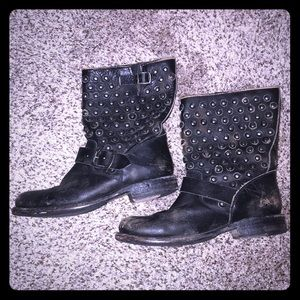 Authentic Leather Frye Studded Boots